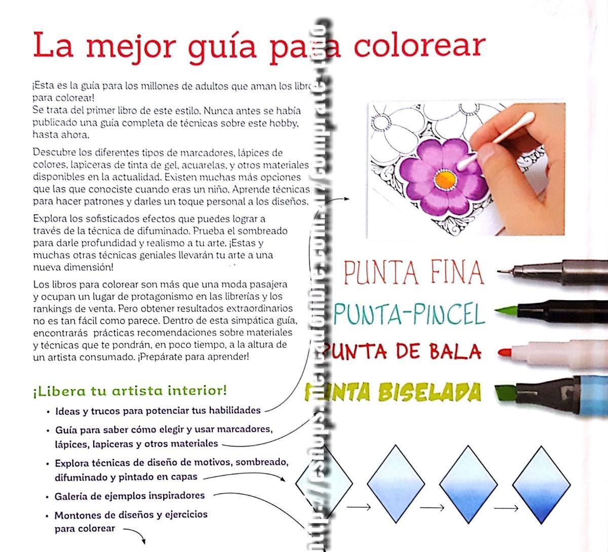 Libro Guia Práctica Para Colorear - Mandalas - Ed Planeta - $ 1.480 ...