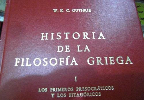 libro: guthrie historia de la filosofía griega (6 tomos) pdf