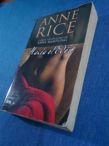 libro hacia el edén, novela erótica anne rice