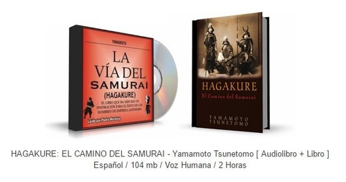libro  hagakure: el camino del samurai - yamamoto tsunetomo