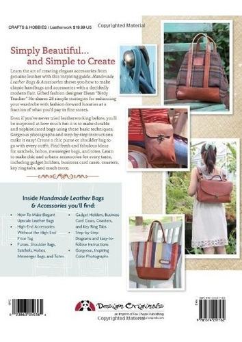 libro handmade leather bags & accessories - nuevo