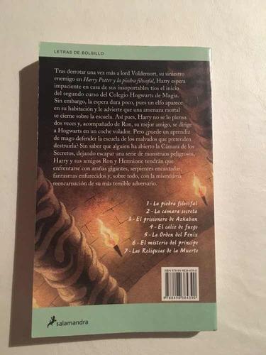 libro harry potter y la cámara secreta