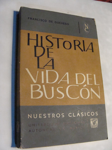 libro historia de la vida del buscon , francisco de quevedo
