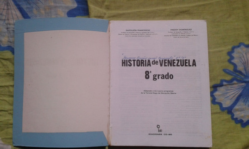 libro: historia de venezuela 8 grado. editorial co-bo