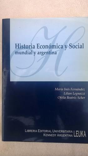 libro historia económica y social mundial y argentina