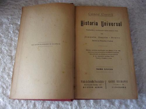 libro - historia universal - cesar cantu