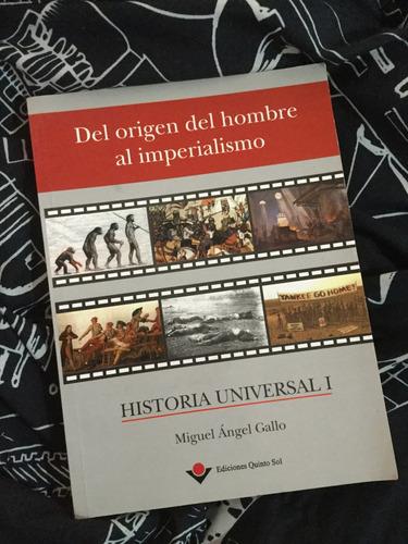 libro historia universal miguel a. gallo