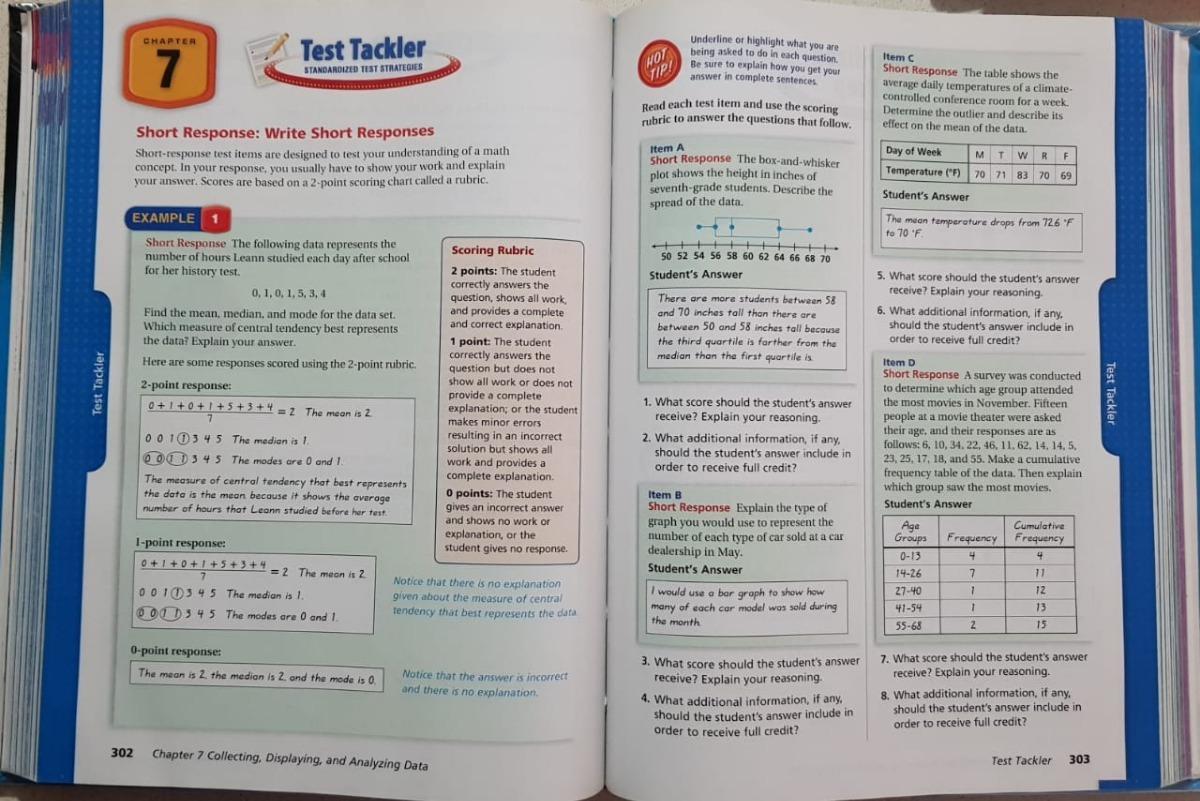Libro Holt Mcdougal Mathematics: Student Edition Grade 7 - $ 1,099 00