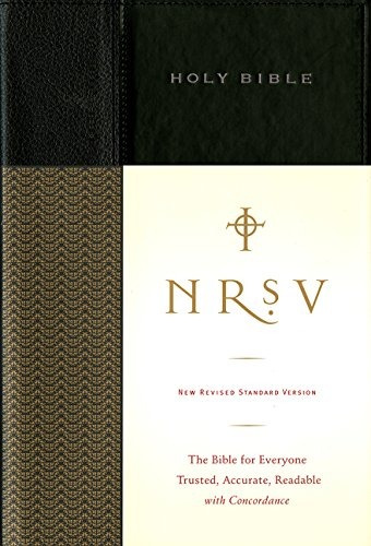 libro holy bible: new revised standard version, black, sta