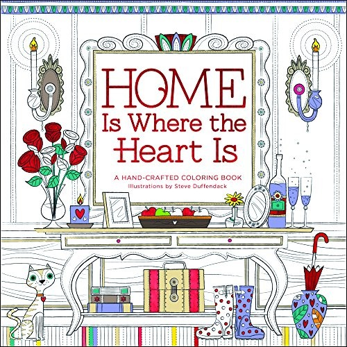 Libro Home Is Where The Heart Is: A Hand-crafted Coloring - $ 720.00 ...