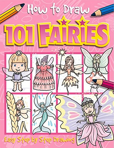libro how to draw 101 fairies: easy step by step drawing