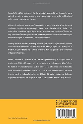 libro human rights and their limits - nuevo