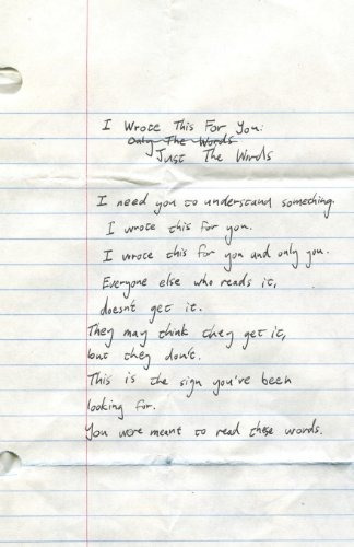 libro i wrote this for you: just the words - nuevo