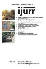 Libro - International Journal Of Urban And Regional Research