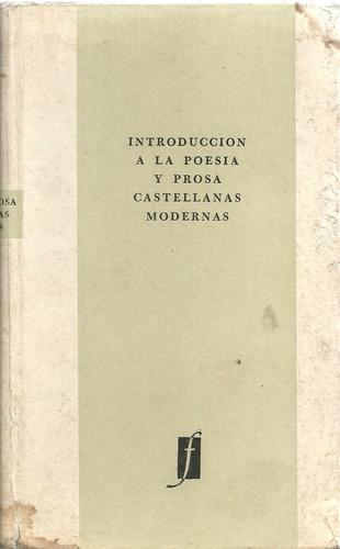 libro introduccion a la poesia y prosa castellanas modernas