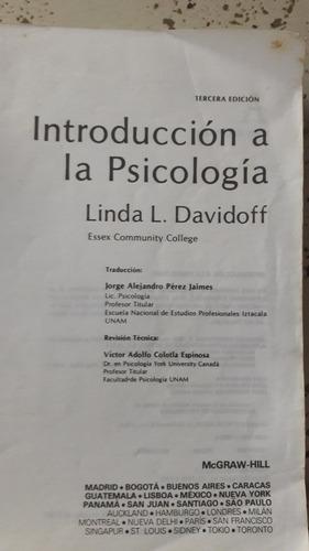 libro introducción a la psicología de linda davidoff