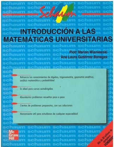 libro, introducción a las matematicas universitarias schaum.