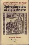 libro introduccion al siglo de oro