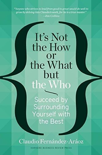 libro it's not the how or the what but the who, mes sin int