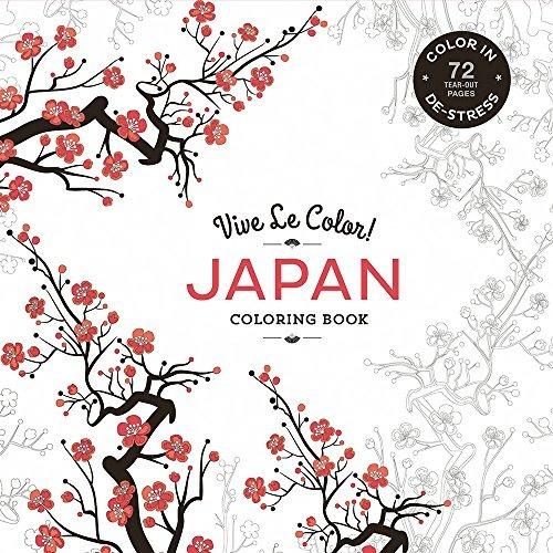 libro japan: color in: de-stress - nuevo