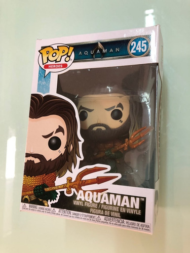 libro jl:  worlds greatest superheroes  + funko pop aquaman