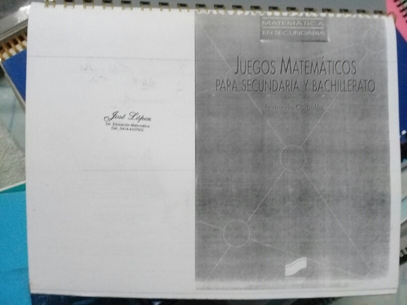Libro Juegos Matematicos Para Secundaria Bs 2 300 00 En Mercado
