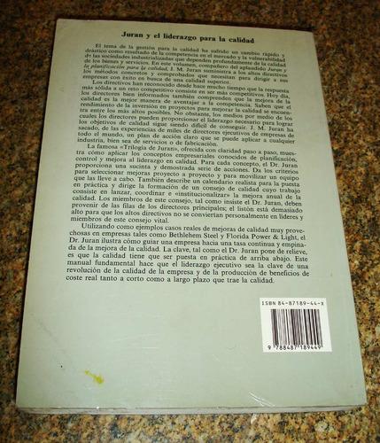 libro juran y el liderazgo para la calidad de jm duran