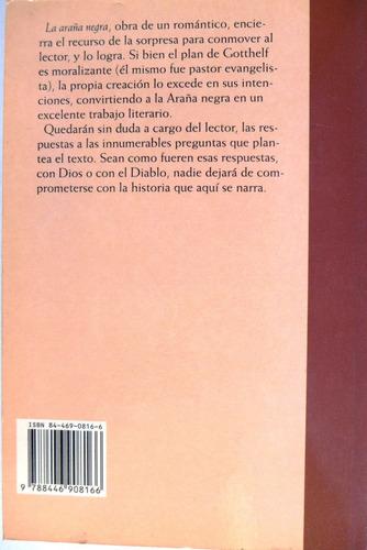libro la araña negra jeremías gotthelf novela