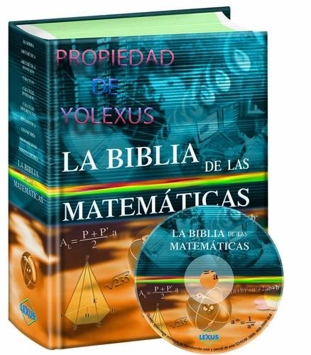 libro   la biblia de las matemáticas  lexus-original