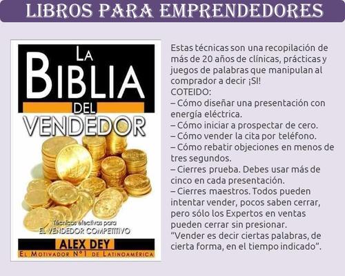 libro la biblia del vendedor - alex dey pdf