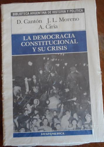 libro la democracia constitucional y su crisis d cantón