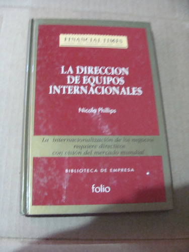 libro la direccion de equipos internacionales  , financial t