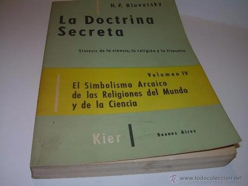 libro, la doctrina secreta de h. p. blavatsky tomo i v.