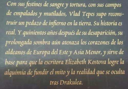 libro la historiadora. dracula