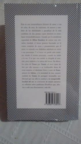 Libro La Insoportable Levedad Del Ser    Milan Kundera