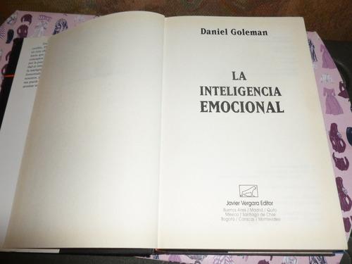 libro la inteligencia emocional | daniel goleman- tapa dura