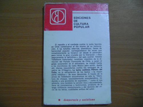 libro la lucha continua / volodia teitelboim
