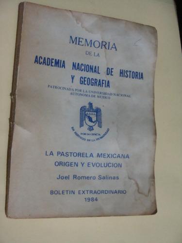 libro la pastorela mexicana origen y evolucion , joel romero