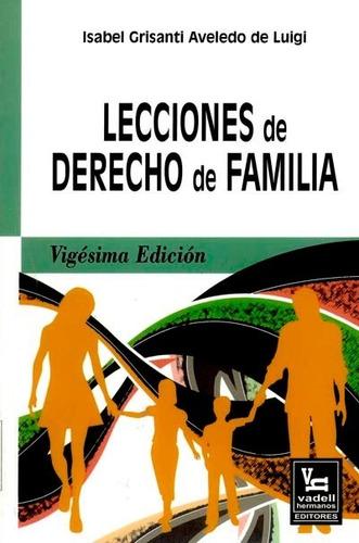 libro lecciones de derecho de familia