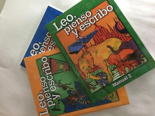 libro leo pienso y escribo manual 1,2,3,4 editorial estudios