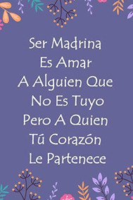 Libro Libreta Rayada Libreta Con Frase Madrina Gi 6792