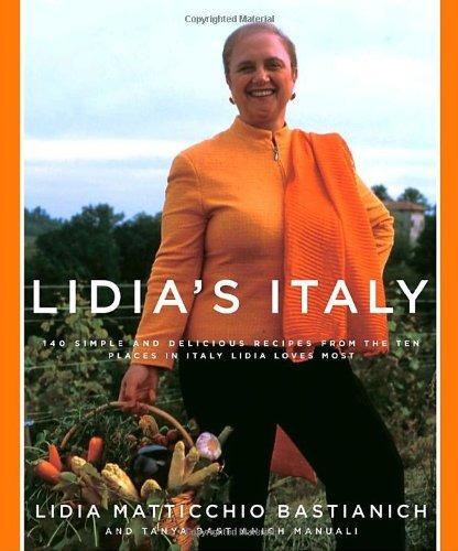 libro lidia's italy - nuevo