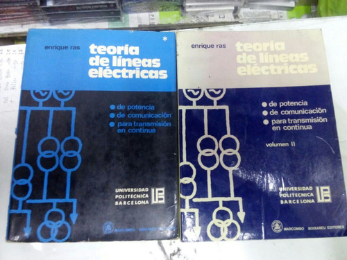 libro lineas electricas de enrique raz (2tomos) electricidad