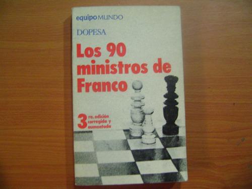 libro los 90 ministros de franco