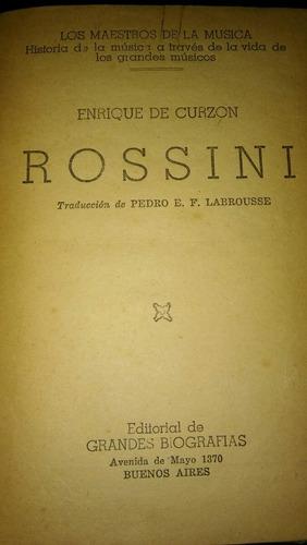 libro los maestros de la musica. rossini