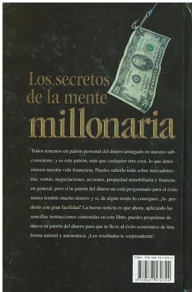 Libro los secretos de la mente millonaria de t harv eker - Libros para relajar la mente ...