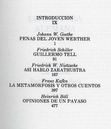 libro, maestros de la literatura universal: alemania.