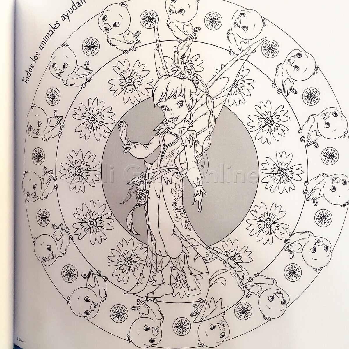 Libro Mandalas Campanita Colorear Princesas Disney Relajante ...