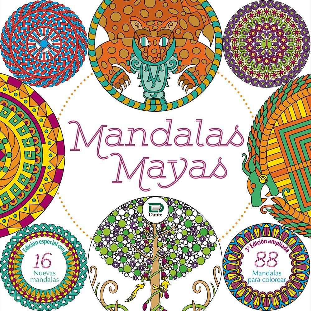 Libro Mandalas Mayas, Para Colorear Editorial Dante Yucatan ...