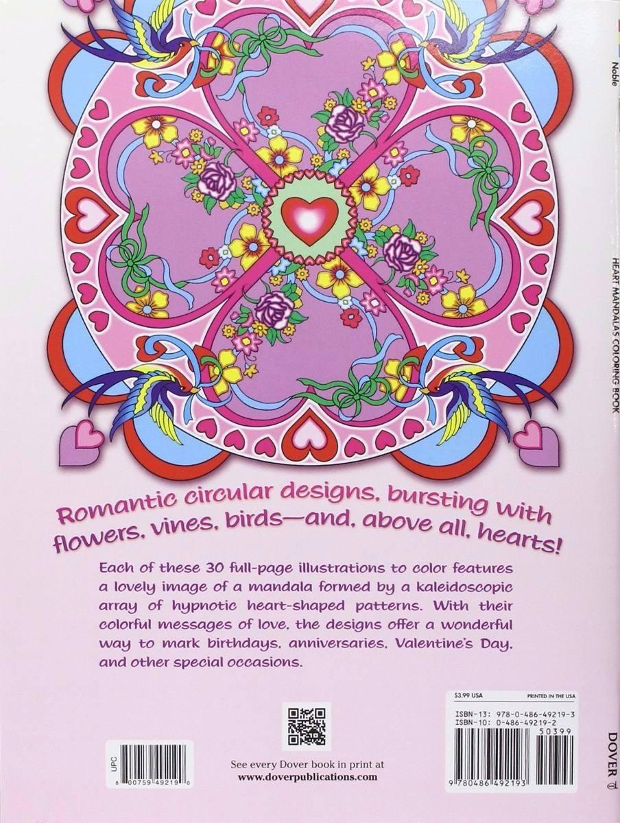 Libro Mandalas Para Colorear Corazones Heart - $ 29.900 en Mercado Libre
